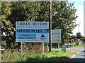 TM2241 : Three Rivers Business Centre sign at Mansfield Park by Geographer