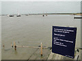 TM3337 : Jetty at Bawdsey with Woodbridge Haven in the background by Adrian S Pye