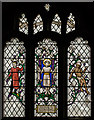 TQ5827 : Stained glass window, St Dunstan's church, Mayfield by Julian P Guffogg