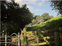 ST7581 : Gate on Cotswold Way at Old Sodbury by Derek Harper