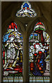 TF1294 : Stained glass window, St Peter's church, Normanby le Wold by J.Hannan-Briggs