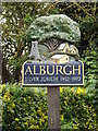 TM2786 : Alburgh Village sign by Adrian Cable