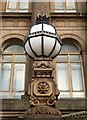 SE2933 : Crowned globe lamp, Leeds Town Hall by Julian Osley