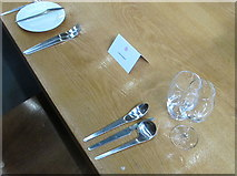 SP5206 : Arne Jacobsen cutlery, St Catherine's College Oxford by David Hawgood