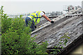 SP9212 : Removing the Roof of New Mill Social Centre, Tring by Chris Reynolds