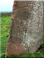 NY5737 : Long Meg (detail) by Oliver Dixon