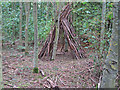 TQ5785 : Woodland 'Tipi' Thames Chase Forest Centre by Roger Jones
