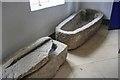 NZ6519 : Sarcophagi, All Saints Church by Mick Garratt