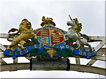 SO5139 : Coat of arms, Victoria Bridge, Hereford by Brian Robert Marshall