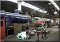 NH8912 : Inside the Aviemore engine shed by Craig Wallace