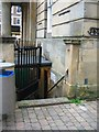 SK5361 : Public Convenience and Ordnance Survey flush bracket by Alex McGregor