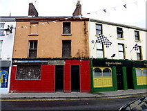 H4472 : Colourful buildings in John Street, Omagh by Kenneth  Allen