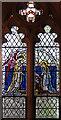 TQ4177 : St Luke, Charlton - Stained glass window by John Salmon