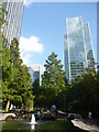 TQ3780 : London Cityscape ; Jubilee Park, Canary Wharf (looking east) by Richard West