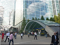 TQ3780 : London Cityscape : Canary Wharf Underground Station (West Entrance) by Richard West