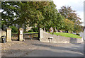 SK7685 : Churchyard wall and gateway, North Wheatley by Alan Murray-Rust