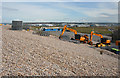 SY6873 : Diggers on Chesil Beach by Anne Burgess