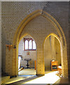 TQ3462 : St John's church, Selsdon: golden arches by Stephen Craven