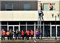 J3474 : Rescue training, The Obel, Belfast (October 2014) by Albert Bridge