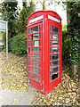 TL7554 : Telephone Box on the A143 Bury Road by Geographer