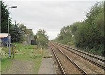 TM4598 : Haddiscoe (low level) railway station (site), Norfolk by Nigel Thompson