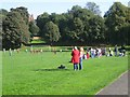 SO9390 : Tense moment, football match, Grange Park, Dudley by Robin Stott