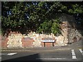 SO9390 : Boundary wall of former works, north corner of Parkway Road and Grange Road, Dudley by Robin Stott