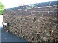 SO9390 : Brick-capped rubble wall, Parkway Road, Dudley by Robin Stott
