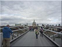 TQ3280 : London Cityscape : On The Millennium Bridge by Richard West