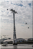 TQ3979 : Cable Car over The River Thames by Christine Matthews