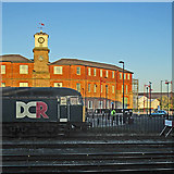 SK3635 : Derby: The Roundhouse and a Class 56 by John Sutton