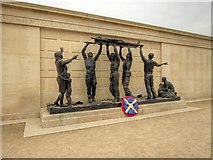 SK1814 : The Stretcher Bearers Sculpture,  The Armed Forces Memorial by David Dixon
