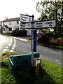 TL7247 : Roadsign on Hundon Road by Adrian Cable