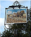 TL7247 : Plough Inn Public House sign by Adrian Cable