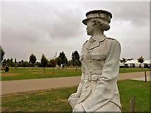 SK1814 : ATS Girl at the National Memorial Arboretum by David Dixon