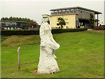 SK1814 : ATS Statue and Millennium Chapel at the National Memorial Arboretum by David Dixon