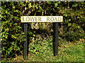 TL7348 : Lower Road sign by Adrian Cable