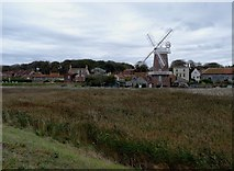 TG0444 : Cley windmill from the marshes by Alan Reid