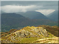 NY3401 : Sunshine and darkness on Black Fell by Karl and Ali