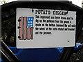 H6857 : Potato digger label, Dergenagh by Kenneth  Allen