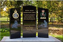 SK1814 : National Memorial Arboretum - Royal Army Veterinary Corps Memorial by Mike Searle