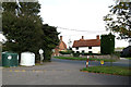 TL7348 : Entrance of Hundon Village Hall & Post Office by Adrian Cable