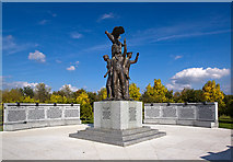 SK1814 : National Memorial Arboretum - Polish Forces War Memorial by Mike Searle