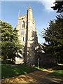 TL7348 : All Saints Church, Hundon by Adrian Cable