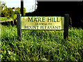 TL7348 : Mare Hill sign by Adrian Cable