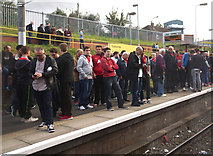 SJ8196 : Manchester United fans by Anthony O'Neil