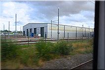 SJ8195 : Metrolink tram maintenance sheds by Anthony O'Neil