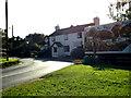 TL7247 : Hundon Road & The Plough Inn Public House by Adrian Cable