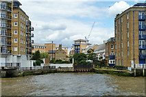 TQ3680 : Former entrance to Limehouse Cut by Robin Webster
