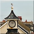 SD3142 : Gull guano on the roundabout clock by Gerald England